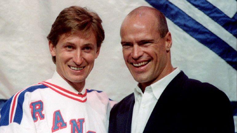 Уэйн ГРЕТЦКИ (слева) и Марк МЕСЬЕ. Фото Reuters