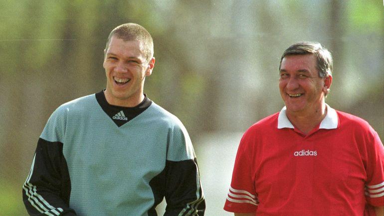 24 мая 2000 года. Москва. Александр ФИЛИМОНОВ (слева) и Юрий ДАРВИН. Фото Александр ФЕДОРОВ, «СЭ»