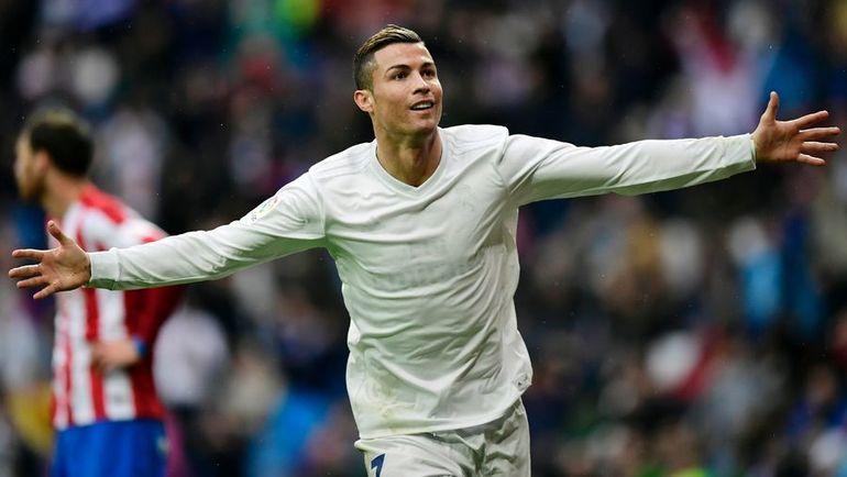 """Суббота. Мадрид. """"Реал"""" - """"Спортинг"""" - 2:1. КРИШТИАНУ РОНАЛДУ преодолел отметку в 50 голов за сезон. Фото AFP"""