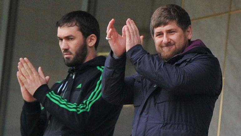Магомед ДАУДОВ (слева) и Рамзан КАДЫРОВ. Фото Александр ФЕДОРОВ, «СЭ»