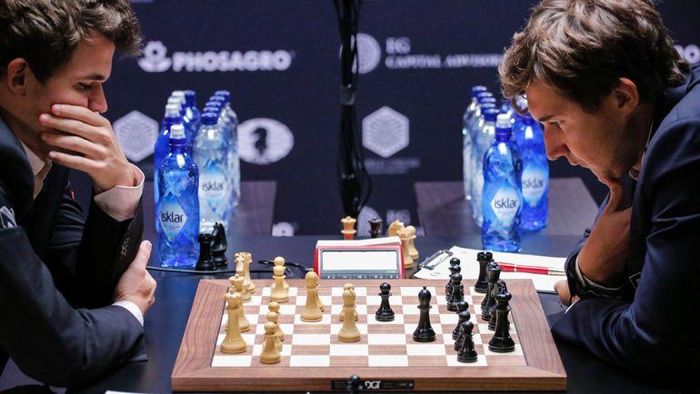 Магнус КАРЛСЕН и Сергей КАРЯКИН. Фото AFP