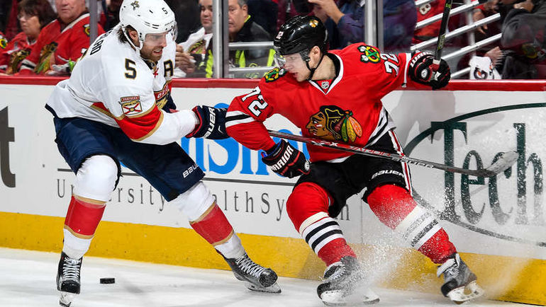 """Вторник. Чикаго. """"Чикаго"""" - """"Флорида"""" - 2:1 Б. Артемий ПАНАРИН (№72) стал второй звездой матча. Фото NHL.com"""