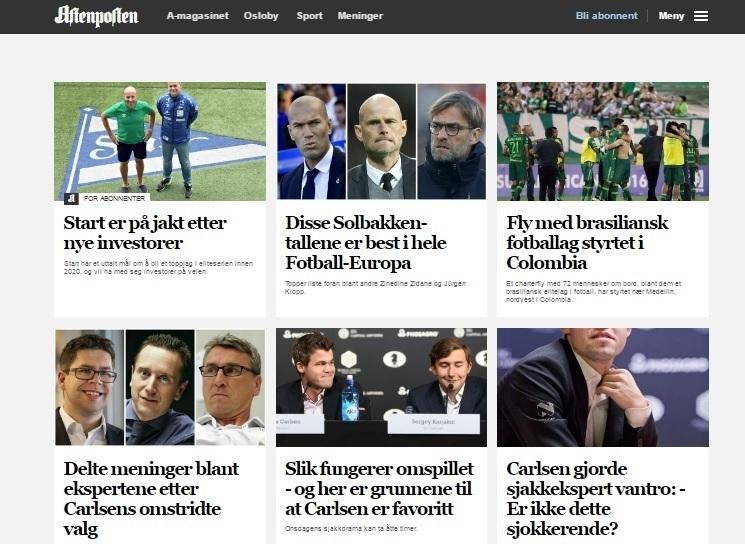 Норвежское издание Aftenposten - пристальное внимание шахматам во время старта биатлонного сезона.