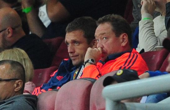 Леонид СЛУЦКИЙ (справа) и Виктор ГОНЧАРЕНКО. Фото Никита УСПЕНСКИЙ, «СЭ»