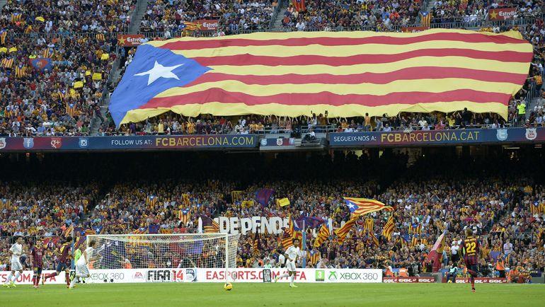 Вокруг класико в последние годы кипят не только спортивные,   но и политические страсти, разделяющие Испанию на две половины. Фото AFP