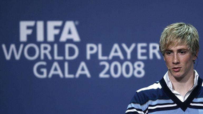 Фернандо ТОРРЕС на церемонии награждения-2008. Фото REUTERS