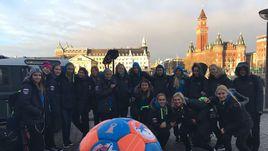 Командное фото обновленной сборной России перед стартом чемпионата Европы.