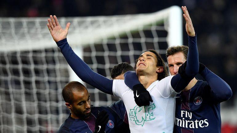 Кавани отпраздновал сотый гол в карьере. Фото L'Equipe