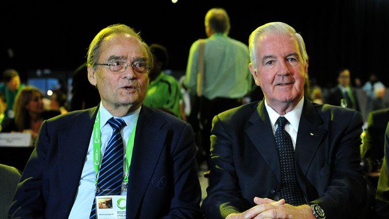 Арне ЛУНДКВИСТ (слева) - один из спикеров фильма и действующий глава ВАДА Крейг РИДИ. Фото AFP