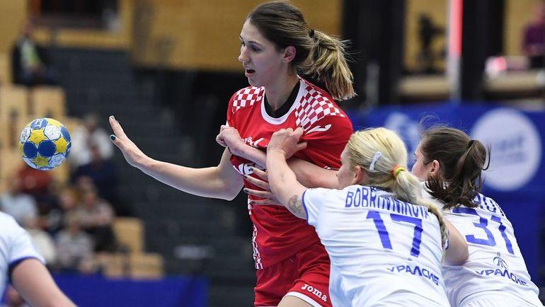 Владлена БОБРОВНИКОВА (№17) была лидером российской сборной в этом матче. Фото AFP