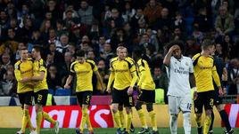 """Среда. Мадрид. """"Реал"""" – """"Боруссия"""" Д – 2:2. Гости праздную выход в плей-офф с первого места в группе."""