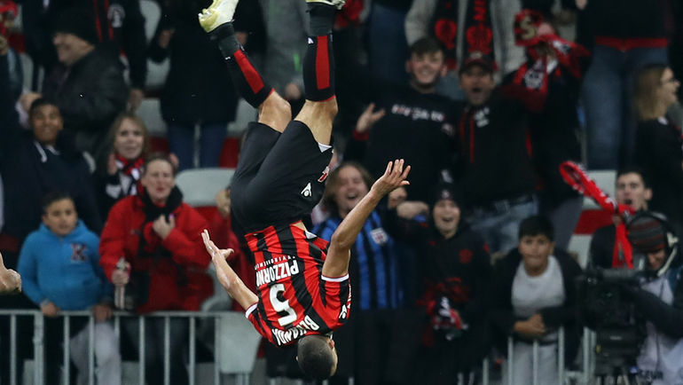 Празднование гола в исполнении Юнеса БЕЛАНДА. Фото AFP