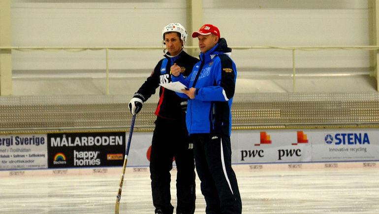 Сергей МЯУС (справа) и Михаил СВЕШНИКОВ.