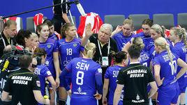 Главный тренер сборной России Евгений ТРЕФИЛОВ дает установку своим подопечным.