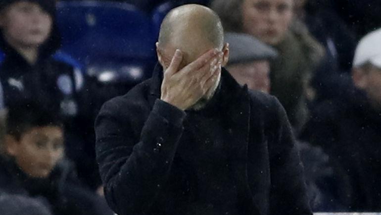 "Суббота. Лестер. ""Лестер"" - ""Манчестер Сити"" - 4:2. Наставник ""Ман Сити"" Хосеп ГВАРДЬОЛА."