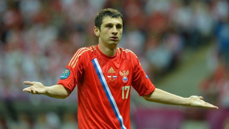 Алан ДЗАГОЕВ в составе сборной России. Фото AFP