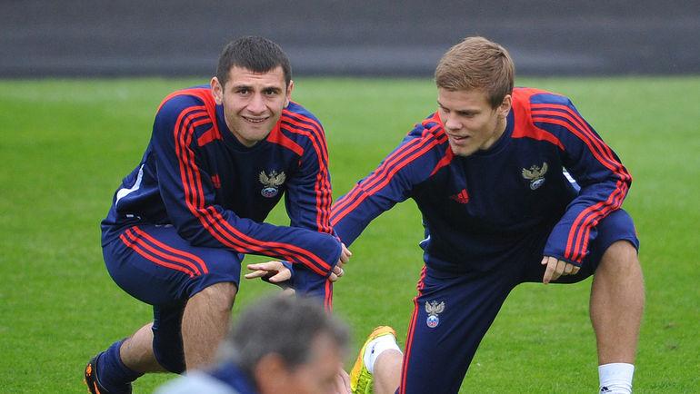 Алан ДЗАГОЕВ (слева) и Александр КОКОРИН. Фото Александр ФЕДОРОВ, «СЭ»