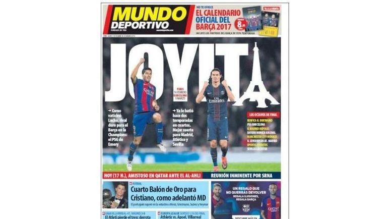 Первая полоса El Mundo Deportivo.