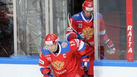 Сегодня. Москва. Швеция - Россия - 3:1. Павел ДАЦЮК не смог отличится в этом матче.