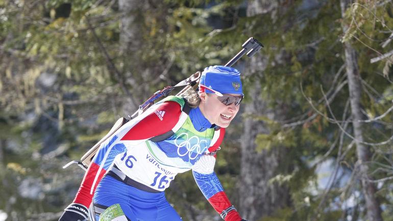 2010 год. Ванкувер. Анна БОГАЛИЙ во время индивидуальной гонки на Олимпиаде. Фото Александр ВИЛЬФ, «СЭ»