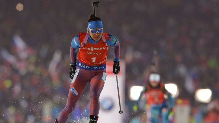 Сегодня. Нове-Место. Татьяна АКИМОВА финишировала третьей. Фото AFP