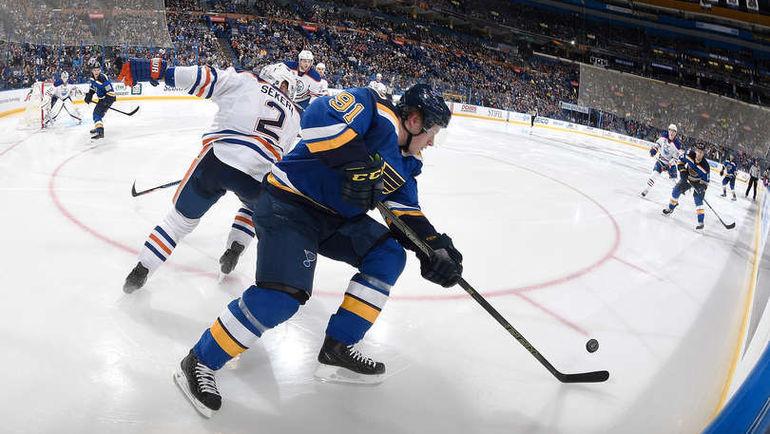 "Понедельник. Сент-Луис. ""Сент-Луис"" - ""Эдмонтон"" - 2:3 ОТ. Владимир ТАРАСЕНКО (№91). Фото NHL.com"