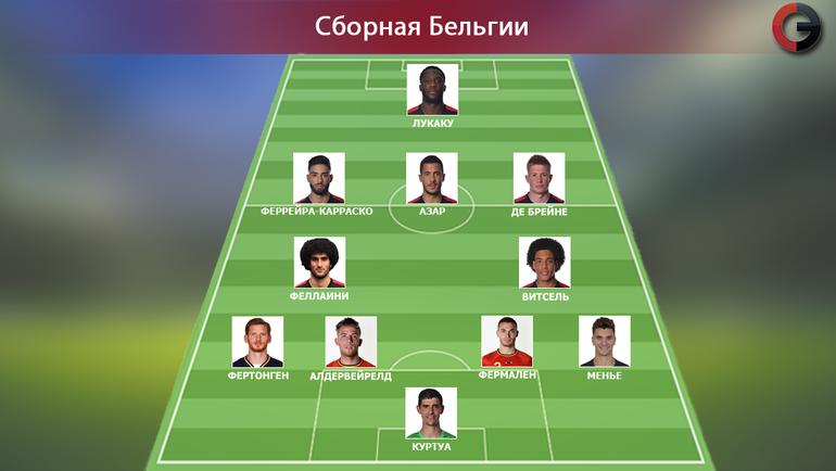 Ориентировочный состав сборной Бельгии. Фото «СЭ»