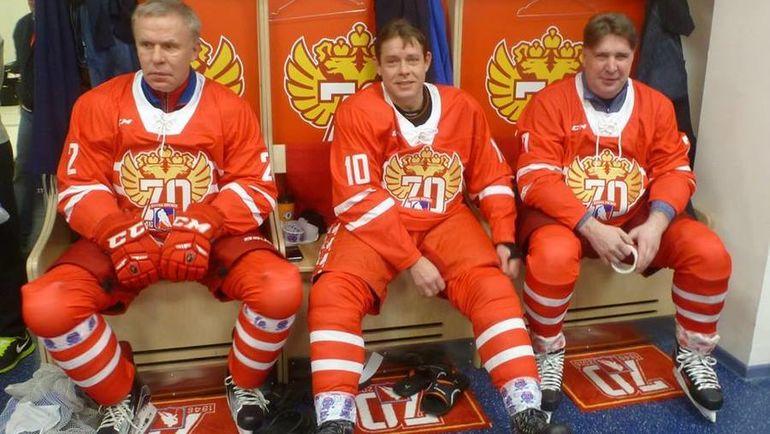 Вячеслав ФЕТИСОВ, Павел БУРЕ и Алексей КАСАТОНОВ. Фото «СЭ»
