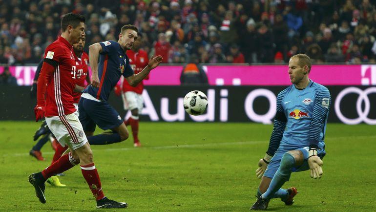 """Вчера. Мюнхен. """"Бавария"""" - """"Лейпциг"""" - 3:0. Роберт ЛЕВАНДОВСКИ и компания трижды поразили ворота соперника и имели еще несколько выгодных моментов. Фото REUTERS"""