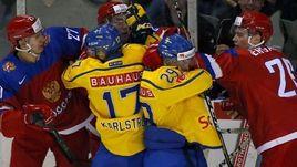 Россия проиграла Швеции в последнем товарищеском матче перед мировым первенством.