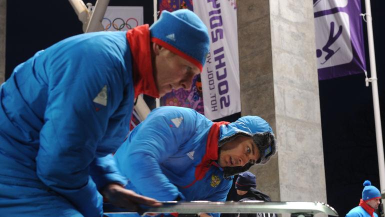 """Александр ЗУБКОВ и Алексей ВОЕВОДА. Фото Федор УСПЕНСКИЙ, """"СЭ"""""""