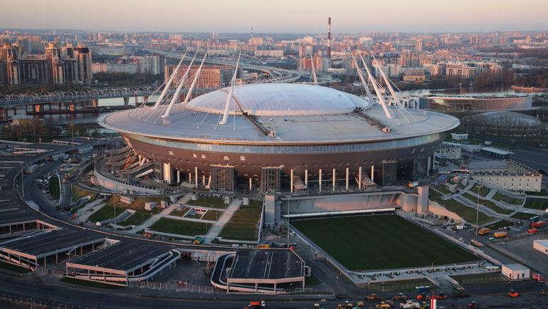 Вид на стадион, который примет ЧМ-2018. Фото ТАСС