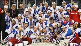5 января 2011 года. Баффало. Канада - Россия - 3:5. Молодежная сборная России празднует победу на чемпионате мира.