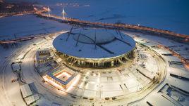 """Санкт-Петербург. Стадион """"Крестовский"""": вид с высоты птичьего полета."""