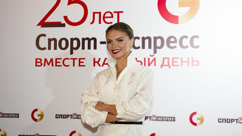 """Алина КАБАЕВА на торжественном вечере в честь 25-летия """"СЭ""""."""