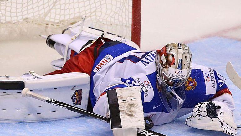 В игре Илья САМСОНОВ. Фото Федерация хоккея России