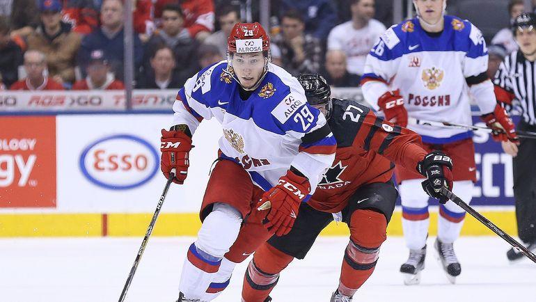 С шайбой Артем ВОЛКОВ. Фото Reuters