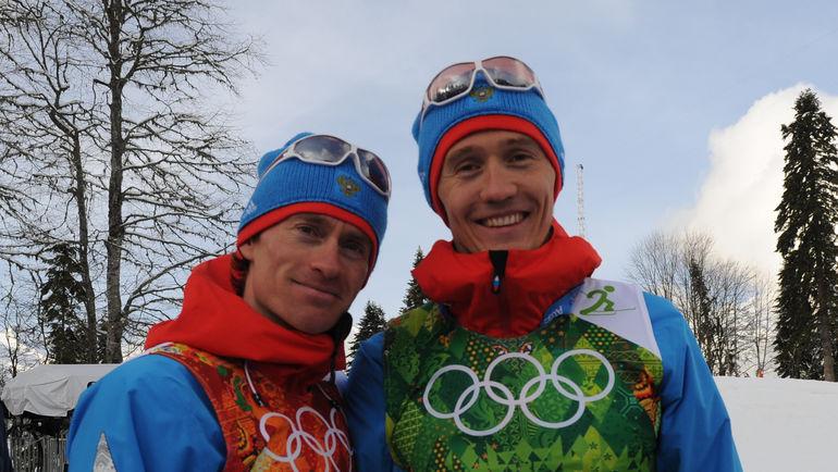 """Никита КРЮКОВ (справа) и Максим ВЫЛЕГЖАНИН. Фото Федор УСПЕНСКИЙ, """"СЭ"""""""