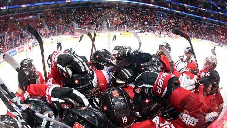 Сборная Швейцарии: дать бой шведам. Фото IIHF