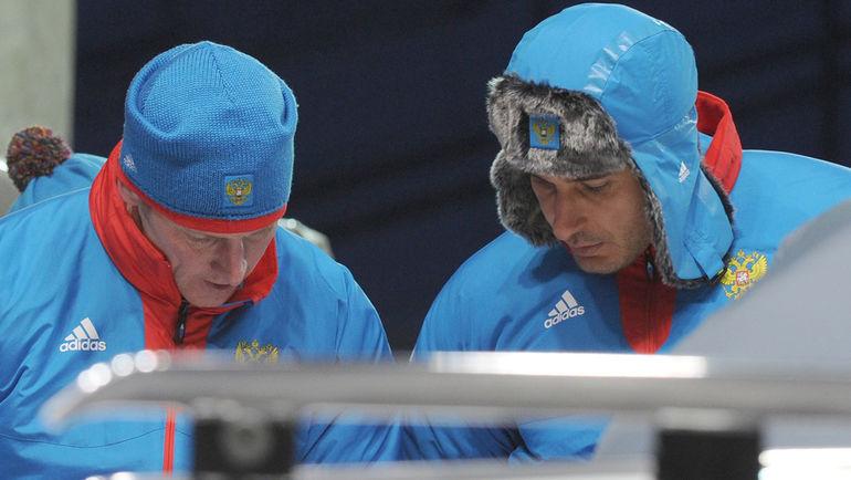 """Александр ЗУБКОВ (слева) и Алексей ВОЕВОДА. Фото Федор УСПЕНСКИЙ, """"СЭ"""""""