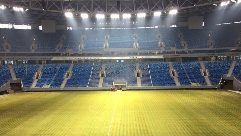 """Сегодня. Санкт-Петербург. Стадион на Крестовском острове. Фото Гоша ЧЕРНОВ, """"СЭ"""""""