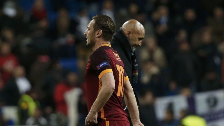 Лучано СПАЛЛЕТТИ (справа) и Франческо ТОТТИ. Фото Reuters