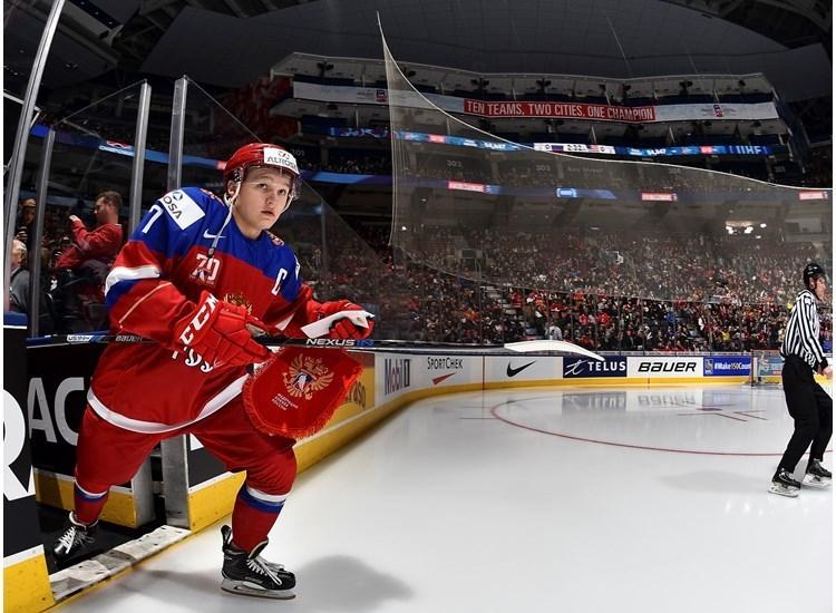 Капитан молодежной сборной России Кирилл КАПРИЗОВ. Фото IIHF.