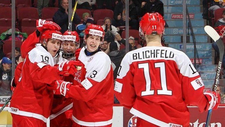 Сборная Дании идет на втором месте в своей группе на молодежном чемпионате мира. Фото iihf.com