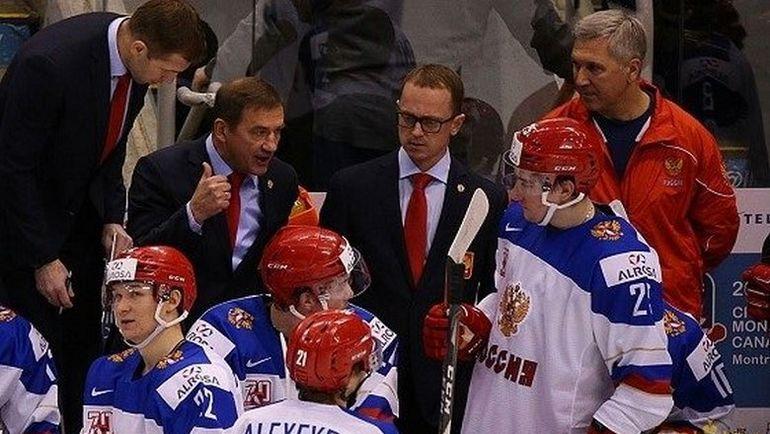 Соперник сборной России по четвертьфиналу станет известен сегодня. Фото ФХР