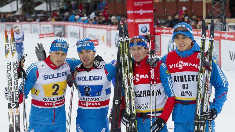 Слева направо: Александр ЛЕГКОВ, Илья ЧЕРНОУСОВ, Максим ВЫЛЕГЖАНИН и Евгений БЕЛОВ. Фото Reuters