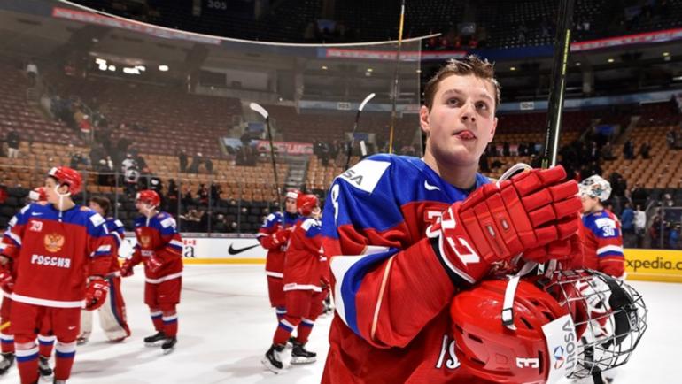 Сегодня. Торонто. Россия - Словакия - 2:0. Российская команда после матча. Фото Пресс-служб ИИХФ