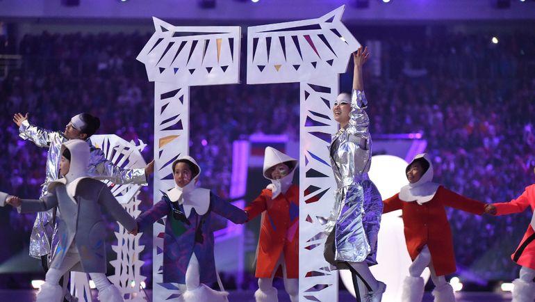 23 февраля 2014 года. Сочи. Презентация Пхенчхана-2018 на церемонии закрытия Игр-2014. Фото AFP