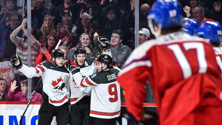 Понедельник. Монреаль. Канада – Чехия – 5:3. В полуфинале хозяева МЧМ-2017 сыграют против шведов. Фото AFP