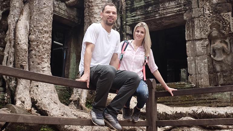 Сергей ИГНАШЕВИЧ с супругой. Фото instagram.com/ignashevich4/